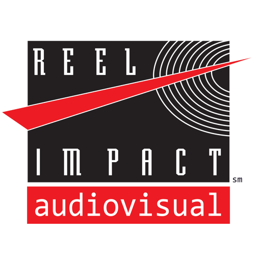 Logo for REEL IMPACT Audiovisual, event technology